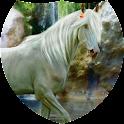 White horse Live Wallpaper icon