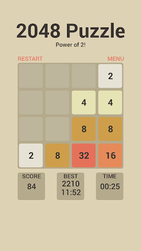 2048 Math puzzle