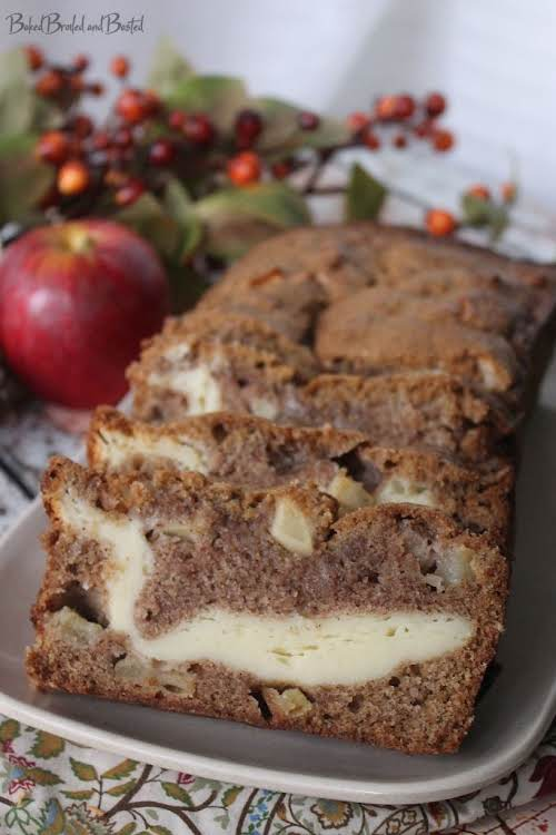 """Apple Bread With Cream Cheese Filling""""This apple bread is simply amazing and..."""