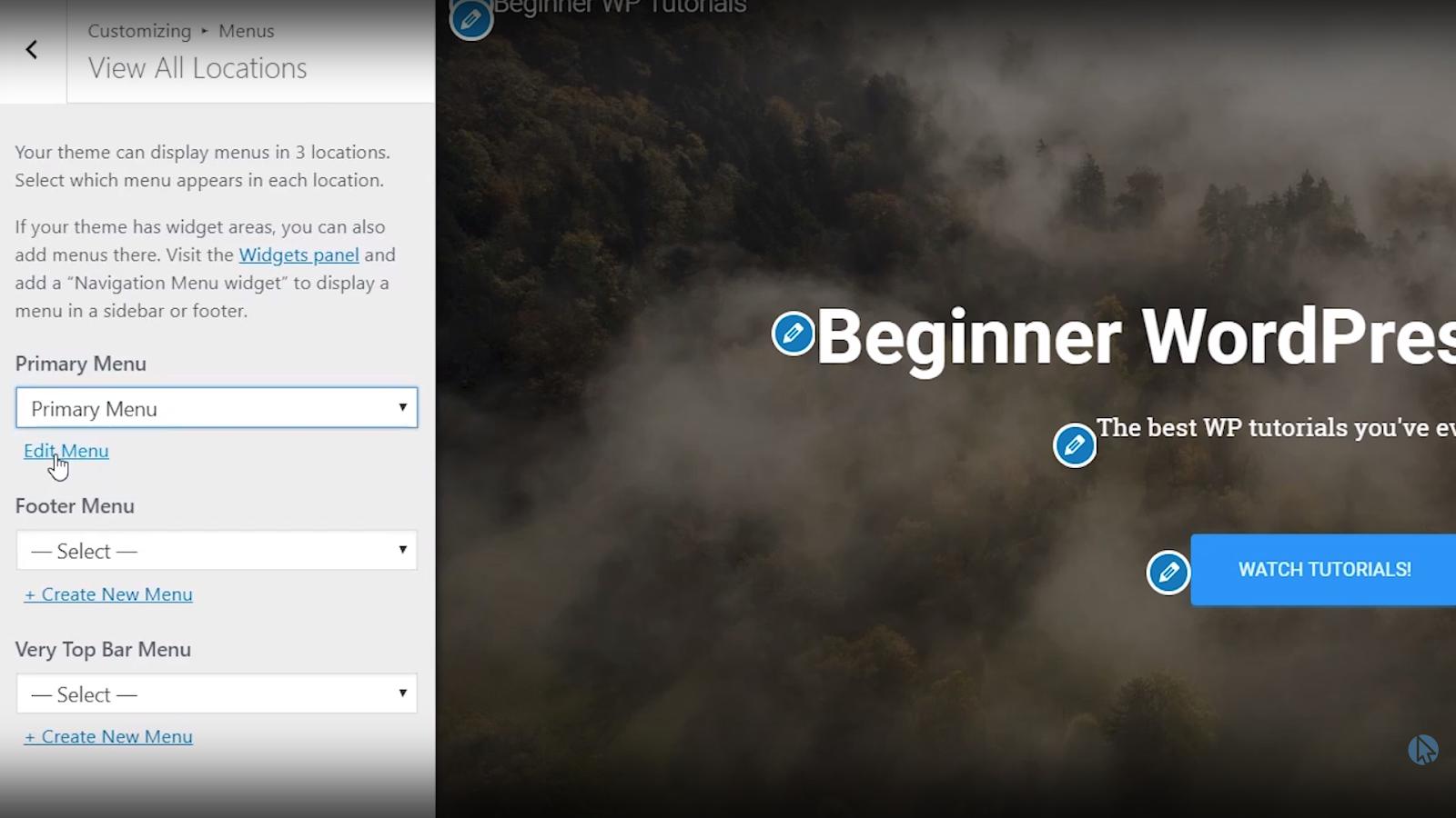 edit menu wordpress tutorial for beginners