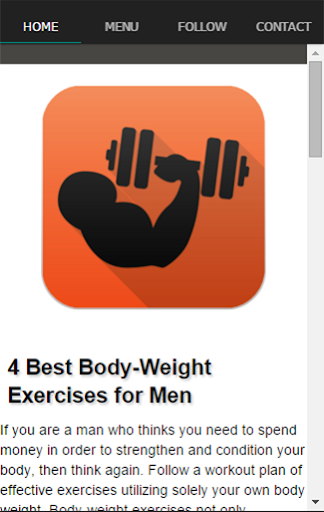 体重筋力トレーニング