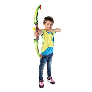 Arc de jucarie pentru copii, model arc cu sageti si tinta, multicolor