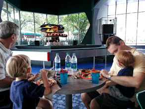 "Photo: Day 2 - Lunch at our favorite Disney restaurant watching ""Sunny Eclipse,"" the alien animotronic, entertain us while we eat."