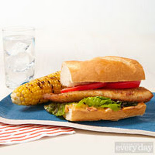 Tilapia Po'boy with Grilled Corn