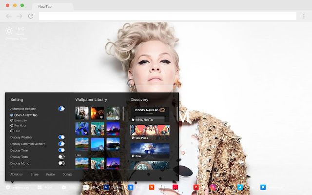 p!nk HD Wallpapers New Tabs Stars Themes