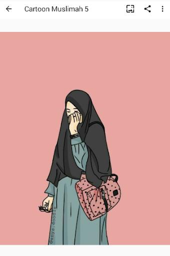 Cartoon Muslimah : Wallpaper and DP screenshot 5