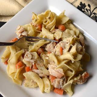 Leftover Turkey Noodle Casserole.