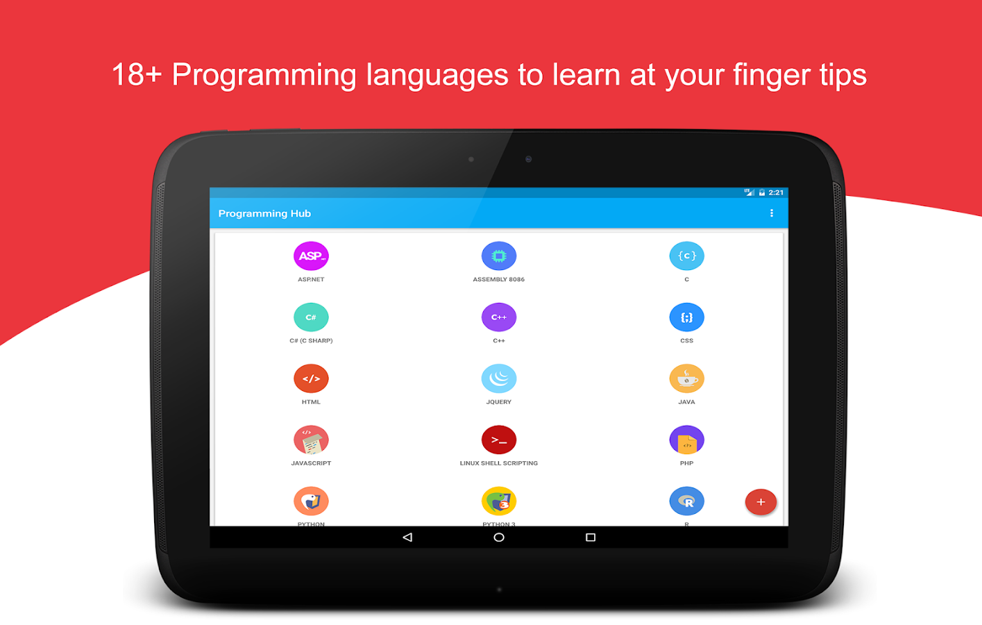 programming hub learn to code android apps on google play programming hub learn to code screenshot