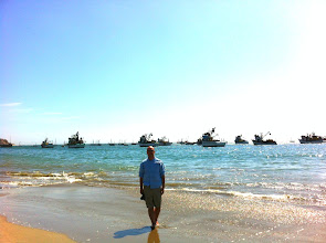 Photo: Mike and the fishing boats.  Los Organos.
