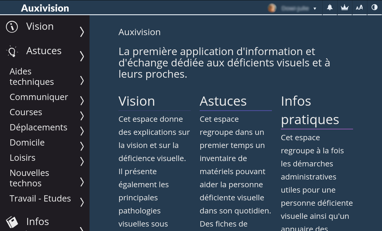 Auxivision- screenshot