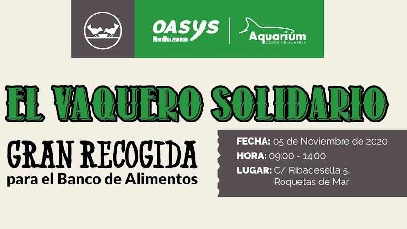 Detalle del cartel de la iniciativa solidaria.