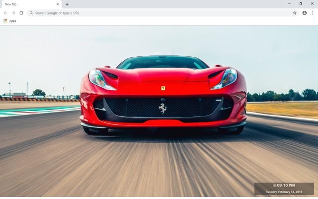 Ferrari vs Porsche New Tab Theme