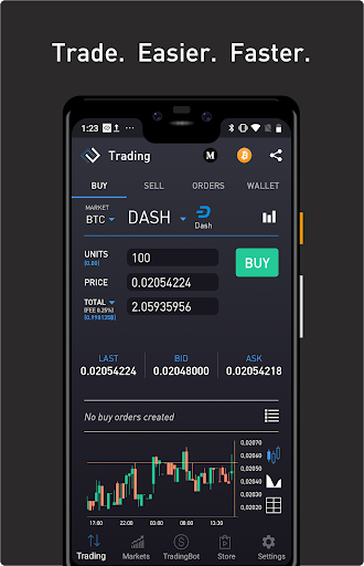 ProfitTrading For Coinbase and Coinbase PRO screenshot for Android