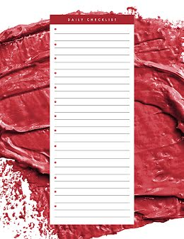 Daily Checklist Brushstrokes - Planner item