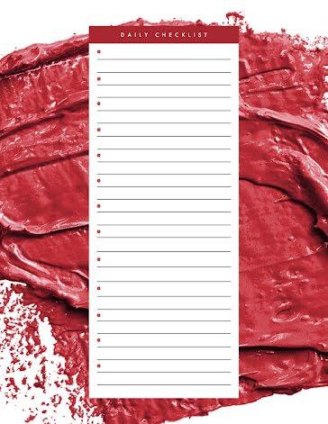Daily Checklist Brushstrokes - Planner template