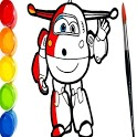 SUPER-WINGS PAINT CARTOON AND LEARN COLORS icon