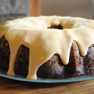 Chocolate Pumpkin Spice Bundt Cake.