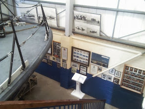 Photo: It's a 3 storey station, but the boat and it's aerials barely squeezing in. The station given over to exhibits from Skegness' long coastal rescue history.
