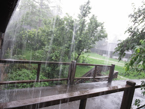 Photo: on campus at Tunghai University, I am visiting during the Plum Rains, which are very strong this year