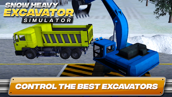 Snow Heavy Excavator Simulator Screenshot