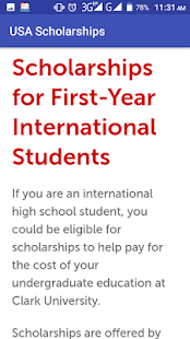 USA Scholarship Apply Online - náhled