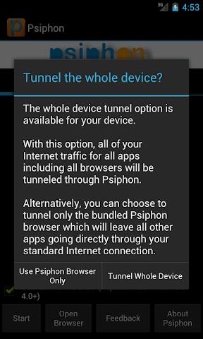 android Psiphon Pro Screenshot 0