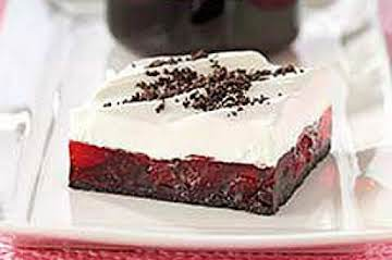Chewy Chocolate Cherry Squares