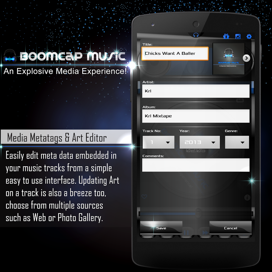 BoomCap Music Player + Flac EQ- screenshot