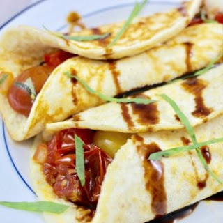 Easy Tomato-Basil Cottage Cheese Crepes.