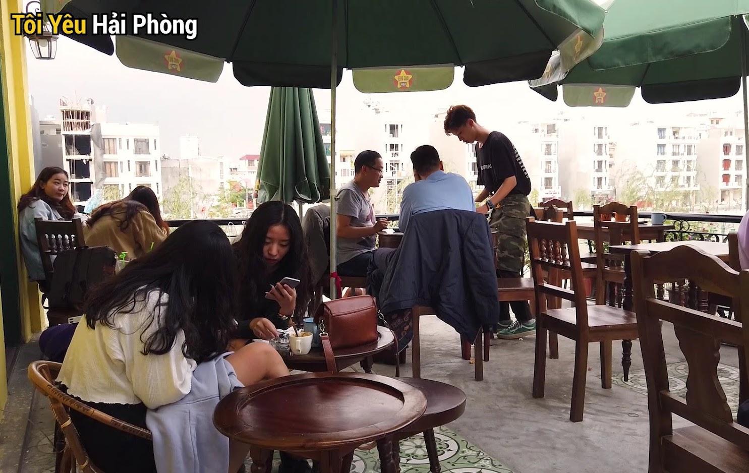 Cà phê view đẹp Bắc Việt phố đi bộ Tam Bạc ở Hải Phòng 5