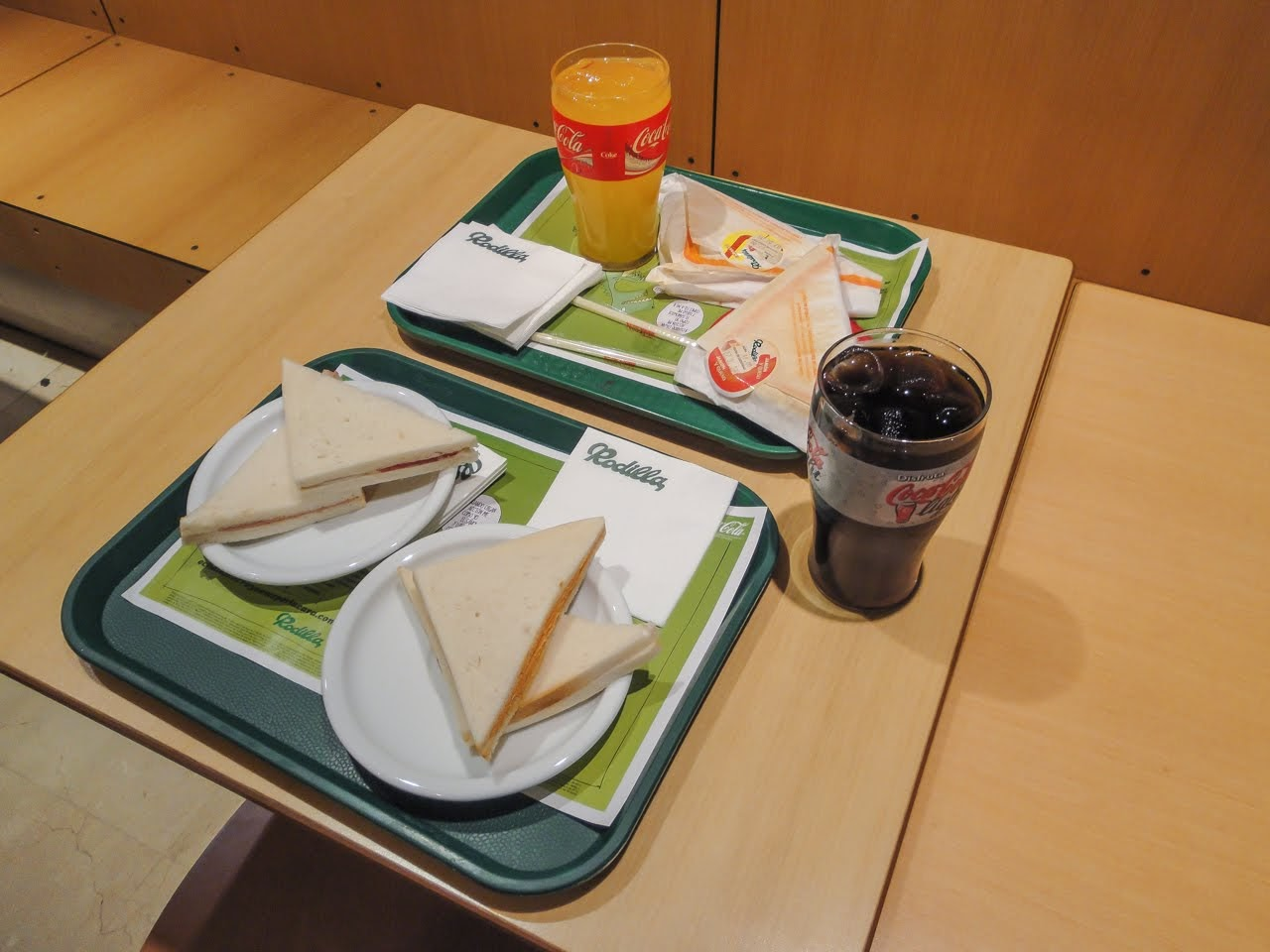 Sandwiches from a restaurant chain called Rodilla