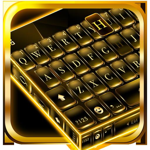Black Gold Keyboard Icon