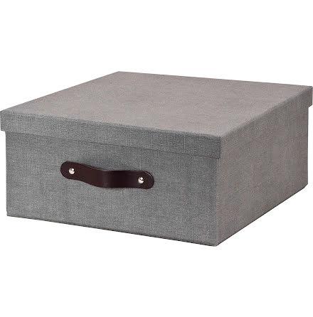 Box Bigso Austin canvas grå