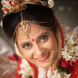 Lovely Bride by Pranab Sarkar - Wedding Bride ( wedding photography, bengali, portait, wedding, indian )