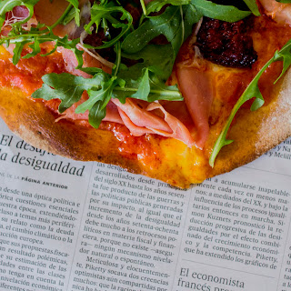 Chorizo and Serrano Ham Pizza