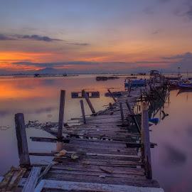 Sunrise at Expressway Jelutong, Penang Malaysia by Adi Affendi - Landscapes Sunsets & Sunrises