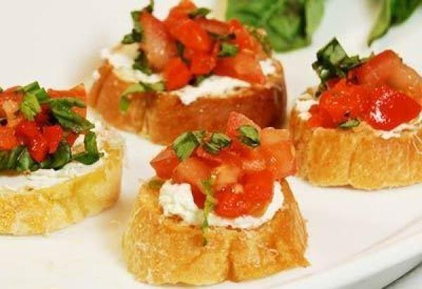 Triple Cheese Bruschetta Recipe