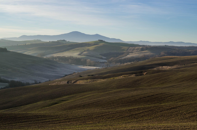 Crete Senesi between Montisi an San Giovanni d'Asso today morning, looking to Monte Amiata