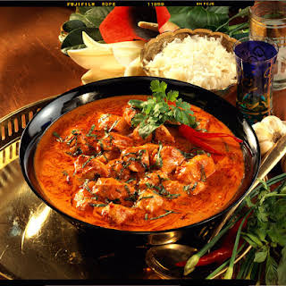 Red Chicken Curry with Rice.