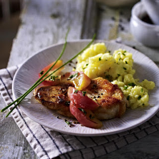 Apple and Cider Chicken with Chive Mashed Potatoes.