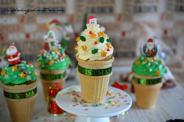 "CHRISTMAS ""ICE CREAM"" CONE CAKES Recipe"