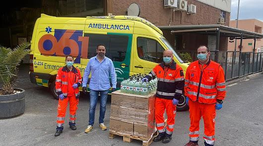 Crazy Almería Premium Gin dona 600 litros de gel hidro alcohólico al 061