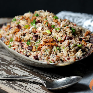 Grilled Wild Rice Kale Salad