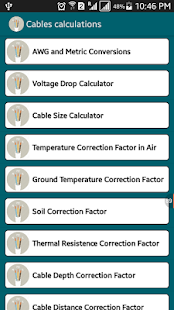 Wire size calculator for ground gallery wiring table and diagram voltage drop cable size pro android apps on google play voltage drop cable size pro screenshot greentooth Image collections
