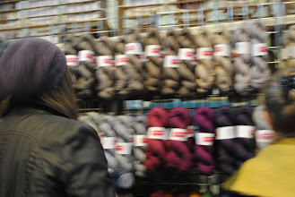 Photo: This captures how my head is spinning faced by this much Fyberspates at once! I bought enough for a cardi for myself. Yay!