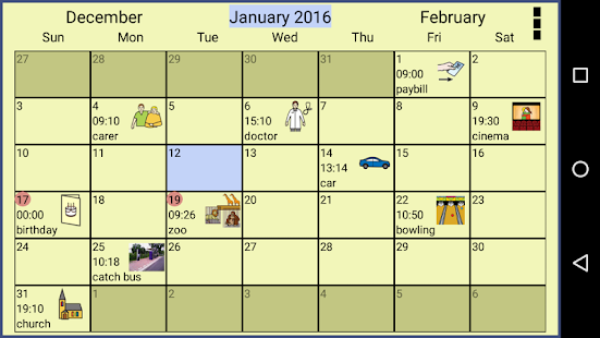 Symbol Calendar Aac Pro Google Play Ilovalari