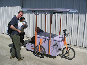 Photo: Michael's Pachamama Project Cart.  This is for Michael's SECOND walk all the way across America, unassisted.