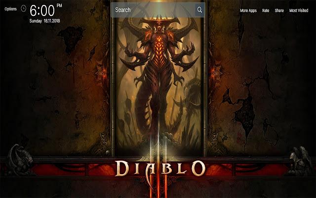Diablo 3 Game Wallpapers HD Theme