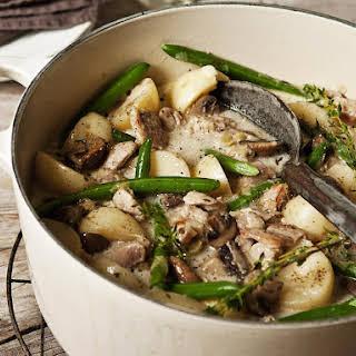 Chicken, Potato and Mushroom Fricassee.