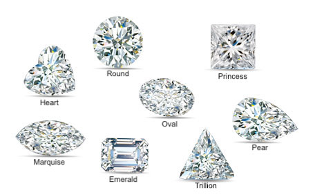 Picture of Different Shaped Diamonds